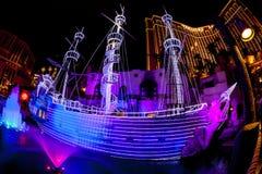 Het het hotel & Casino van het Schateiland in Las Vegas Stock Fotografie