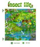 Het het insectleven 3 van het raadsspel Royalty-vrije Stock Fotografie