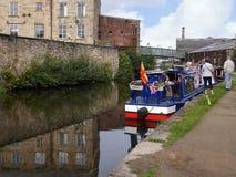 Het het Kanaalfestival van Leeds Liverpool in Burnley Lancashire Stock Afbeeldingen