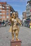 Het het leven gouden standbeeld Royalty-vrije Stock Afbeeldingen