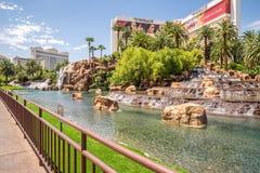 Het het Luchtspiegelinghotel en Casino Stock Afbeeldingen
