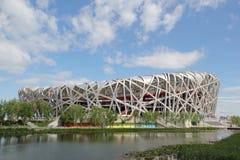 Het het Nationale Olympische Stadion van Peking/Nest van de Vogel Royalty-vrije Stock Foto's