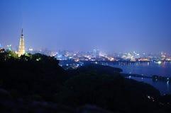 Het het westenmeer bij nacht Stock Foto's