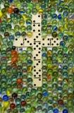 Het het witte Kruis & Marmer van de Domino Royalty-vrije Stock Foto's