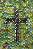 Het het zwarte Kruis & Marmer van de Domino Royalty-vrije Stock Foto's
