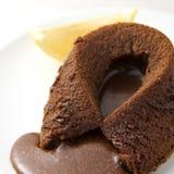 Het hete Fondantje van de Chocolade Stock Foto's