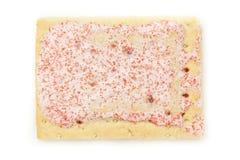 Het hete Gebakje van de Aardbeibroodrooster stock foto's