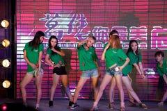 Het hete gebied zingen en de dansen-vijftig-eerste Misser International Jiangxi-wedstrijd Stock Foto