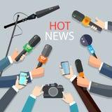 Het hete nieuws leeft rapportconcept Stock Foto