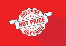Het hete pictogram van de prijs rubberzegel Royalty-vrije Stock Foto