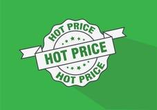 Het hete pictogram van de prijs rubberzegel Royalty-vrije Stock Fotografie