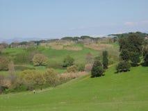 Het heuvelige park van Cafarella kwam in green te voorschijn aan Rome in Italië Stock Foto