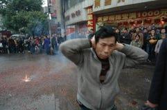 Het hevige lawaai van het voetzoeker-de Lentefestival in Nan-Tchang royalty-vrije stock foto's