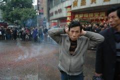 Het hevige lawaai van het voetzoeker-de Lentefestival in Nan-Tchang royalty-vrije stock fotografie
