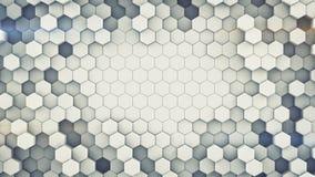 Het hexagonale cellenmuur abstracte 3D teruggeven vector illustratie