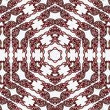 Het hexagonale patroon van het sneeuwvlok ononderbroken kant voor kaart Royalty-vrije Stock Afbeelding
