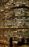 Het high-rise van de Stad van New York bureaugebouw royalty-vrije stock foto's