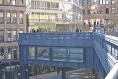 Het highlinepark in de stad van New York Stock Foto