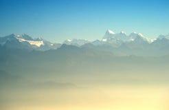 Het Himalayagebergte stock foto's