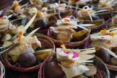 Het Hindoese godsdienstige dienstenaanbod van Bali Stock Afbeeldingen