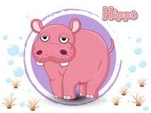 Het Hippobeeldverhaal verbindt de punten en de kleur Royalty-vrije Stock Afbeelding