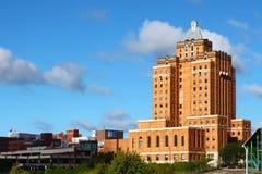 Het historische Akron YMCA gebouw in Akron, Ohio stock afbeelding