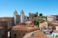 Het historische centrum van Caceres Royalty-vrije Stock Foto's