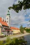 Het historische centrum van Ceskykrumlov Stock Afbeelding