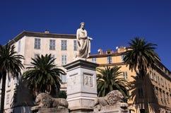 Het historische centrum van Corsica Ajaccio Stock Fotografie