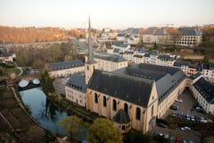 Het historische centrum van Luxemburg Stock Foto's