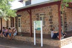 Het historische de bouw Eerste Ziekenhuis van Centraal Australië in Alice Springs, Australië Stock Fotografie