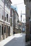 Het historische deel van de stad van Pontevedr stock afbeelding