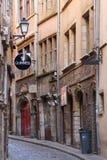 Het historische district van Lyon stock foto