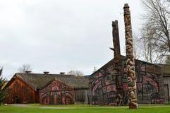 'Het Historische Dorp van Ksan dichtbij Hazelton, BC Stock Fotografie