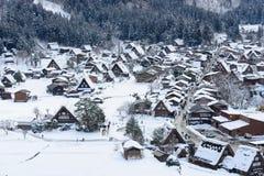 Het historische Dorp van shirakawa-gaat in de winter Stock Foto