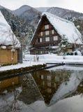 Het historische Dorp van shirakawa-gaat in de winter Stock Afbeeldingen
