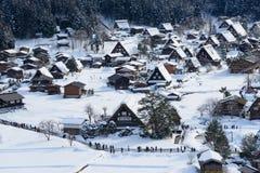 Het historische Dorp van shirakawa-gaat in de winter Stock Fotografie