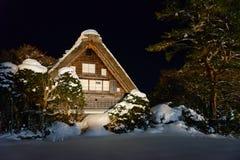 Het historische Dorp van shirakawa-gaat in de winter Royalty-vrije Stock Foto