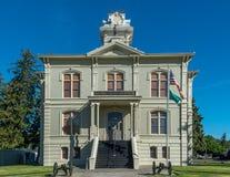 Het historische Gerechtsgebouw van de Provincie van Colombia in Dayton Washington royalty-vrije stock afbeeldingen