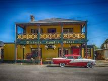 Het historische hotel van Nieuw Zeeland stock afbeeldingen