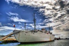 Het historische medische schip Gil Eanes in Viana do Castelo Royalty-vrije Stock Foto's