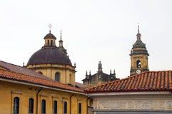 het historische Moeras van La Candelaria van de districtskerk stock afbeeldingen