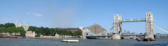 Het historische panorama van Londen Royalty-vrije Stock Foto