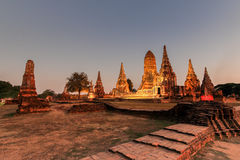 Het Historische Park van Ayutthaya Stock Foto's