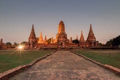 Het Historische Park van Ayutthaya Royalty-vrije Stock Foto's