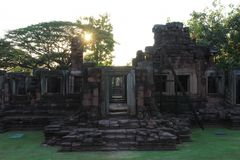 Het Historische Park van Phimai Royalty-vrije Stock Afbeeldingen