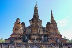 Het Historische Park van Sukhothai in Thailand Stock Fotografie