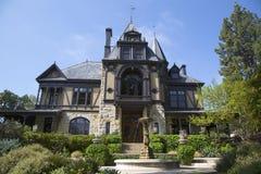 Het historische Rijn-Huis bij Beringer-Wijngaarden in Napa-Vallei Royalty-vrije Stock Afbeeldingen