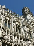 Het historische stadhuis van Brussel Stock Foto's