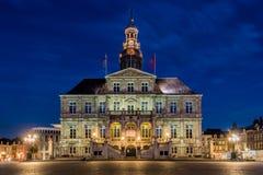 Het historische stadhuis van Maastricht, Nederland Stock Foto's